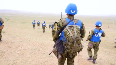 Un-Japan-Ground-Selfdefense-Force-Soldiers-Train-In-United-Nations-Patrolling-In-Mongolia-China