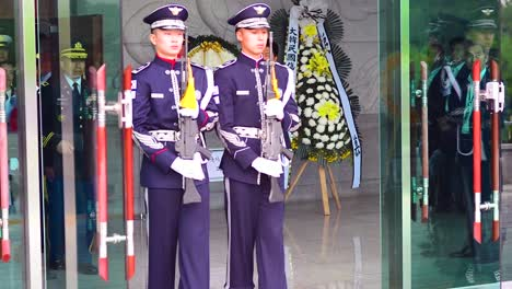 Repatriation-Ceremony-For-Korea-War-Heroes-Full-Military-Funeral-Formal-Procession-With-Coffin
