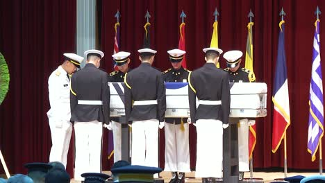 Repatriation-Ceremony-For-Korea-War-Heroes-Full-Military-Funeral-Formal-Ceremony