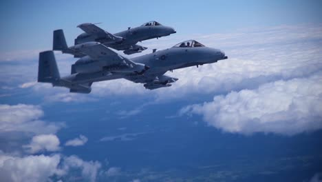 A10-S-And-F16-S-In-Flight-Air-To-Air-Aerial