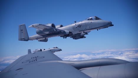 A10-S-And-F16-S-In-Flight-Air-To-Air-Aerial-1