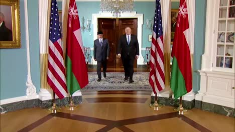Us-Secretary-Of-State-Mike-Pompeo-Meets-With-Omani-Foreign-Minister-Yusuf-Bin-Alawi-Of-Oman