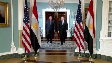 US-Außenminister-Mike-Pompeo-Trifft-Sich-Mit-Dem-ägyptischen-Außenminister-Sameh-Shoukry-Von-Ägypten