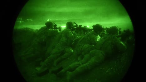 Night-Vision-Of-Us-Soldiers-Assigned-To-Lightning-Troop-3Rd-Squadron-2D-Calvary-Regiment-Participating-In-A-Combined-Arms-Live-Fire-Exercise-During-Noble-Partner-18-In-Vaziani-Georgia