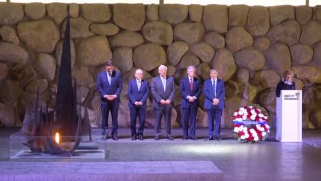 Us-National-Security-Advisor-Ambassador-John-Bolton-Visits-Israel-And-Lays-A-Wreath-At-Yad-Vashem-Holocaust-Memorial-In-Jerusalem