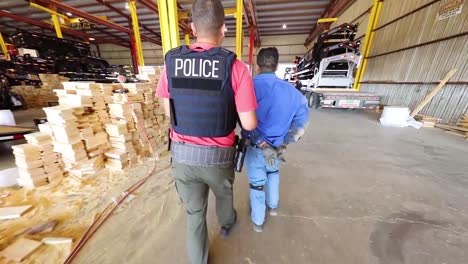 Special-Agents-From-Us-Immigration-And-Customs-Enforcement_s-(Ice)-Homeland-Security-Investigations-(Hsi)-Make-Arrests-And-Deport-Illegal-Immigrants-During-The-Trump-Immigration-Crackdown