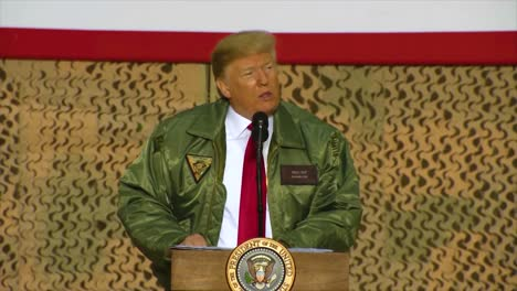 Us-President-Donald-Trump-Makes-A-Surprise-Christmas-Visit-To-Us-Troops-In-Iraq-And-Speaks-About-How-America-Should-Be-An-Isolationist-Country