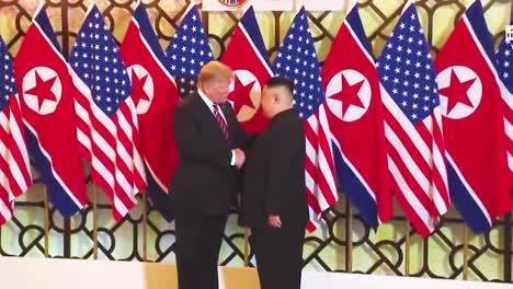 Us-President-Donald-Trump-Meets-With-North-Korean-President-Kim-Jong-Un-At-A-Summit-In-Vietnam-9