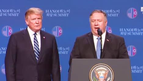 US-Außenminister-Mike-Pompeo-Hält-Nach-Dem-Gipfel-Von-Präsident-Donald-Trump-In-Vietnam-Mit-Kim-Jong-Un-Eine-Pressekonferenz-Und-Beantwortet-Fragen-Zum-Abrupten-Ende-Der-Verhandlungen