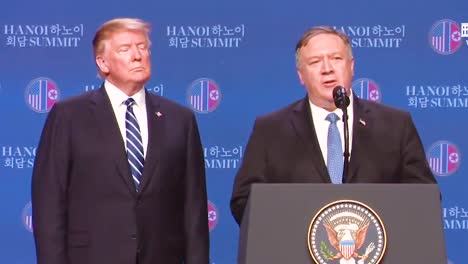 Us-Secretary-Of-State-Mike-Pompeo-Holds-A-Press-Conference-Following-President-Donal-Trump-S-Summit-In-Vietnam-With-Kim-Jong-Un-And-Answers-Questions-About-The-Abrupt-End-To-Negotiations-1