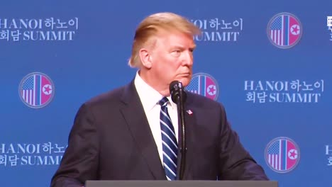 Us-President-Donald-Trump-Holds-A-Press-Conference-Following-His-Summit-In-Vietnam-With-Kim-Jong-Un-And-Answers-A-Question-From-Fox-News-Host-Sean-Hannity