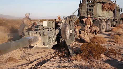 Us-Marines-Fire-An-M777-Howitzer-During-Integrated-Training-Exercise-519-At-Twentynine-Palms-1