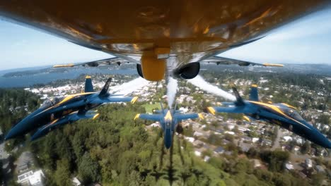The-Us-Navy-Blue-Angels-Fly-Over-Seattle-In-The-Boeing-Seafair-Air-Show