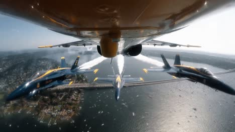The-Us-Navy-Blue-Angels-Fly-Over-Seattle-In-The-Boeing-Seafair-Air-Show-2