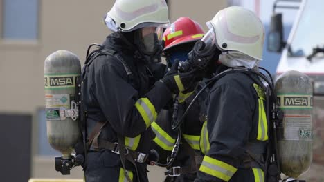 Usaf-Firefighters-Of-The-435Th-Construction-And-Training-Squadron-Prepare-Their-Gear-For-A-Training-Exercise-On-Ramstein-Air-Base