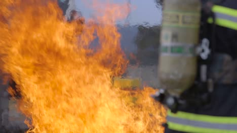 Usaf-Firefighters-Of-The-435Th-Construction-And-Training-Squadron-Put-Out-A-Fire-During-An-Exercise-On-Ramstein-Air-Base