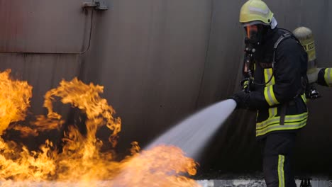 Usaf-Firefighters-Of-The-435Th-Construction-And-Training-Squadron-Lead-A-Training-Exercise-On-Ramstein-Air-Base