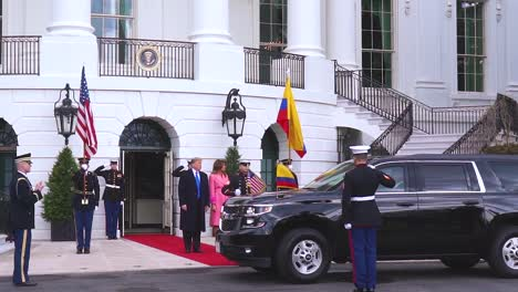President-Trump-And-First-Lady-Melania-Trump-Host-IvöN-Duque-MöRquez-The-President-Of-Colombia-At-The-White-House