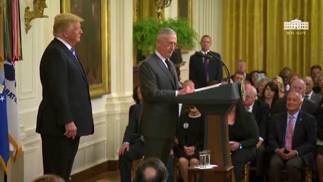 Us-President-Donald-Trump-And-Secretary-Of-Defense-General-Jim-Mattis-At-A-Large-Public-Event