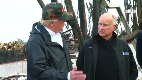 Us-President-Donald-Trump-California-Governor-Gavin-Newsome-And-Former-Governor-Jerry-Brown-Discuss-California-Wildfire-Situation-And-Fire-Management