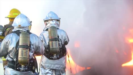 Aircraft-Rescue-And-Fire-Fighting-(Arff)-Marines-Conduct-Fire-Containment-Drills-Of-A-Burning-Airplane-Crash-At-Marine-Corps-Air-Station-Miramar-California