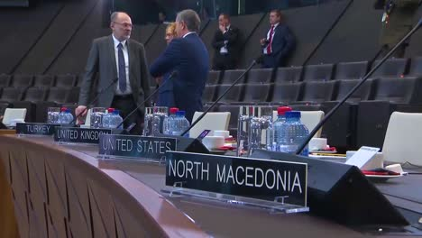 The-Interior-Of-Nato-Headquarters-Featuring-Jens-Stoltenberg-And-The-North-Atlantic-Council-In-Discussion-And-Taking-Seats