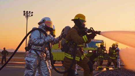 Aircraft-Rescue-And-Fire-Fighting-(Arff)-Marines-Conduct-Fire-Containment-Drills-Of-A-Burning-Airplane-Crash-At-Marine-Corps-Air-Station-Miramar-California-5