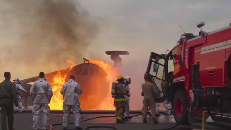 Aircraft-Rescue-And-Fire-Fighting-(Arff)-Marines-Conduct-Fire-Containment-Drills-Of-A-Burning-Airplane-Crash-At-Marine-Corps-Air-Station-Miramar-California-9