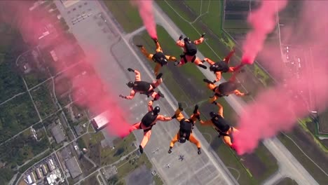 The-Us-Army-Parachute-Team-Golden-Knights-Conduct-A-Skydive-Skydiving-Display-2