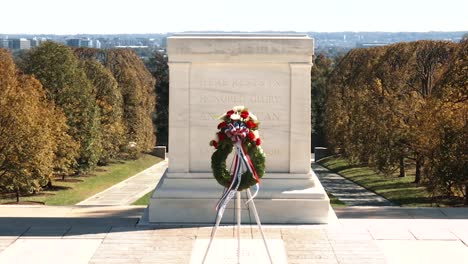 The-Tomb-Of-The-Unknown-Soldier-And-Other-Sites-At-The-Arlington-National-Cemetery-Are-Shown-On-An-Autumn-Day