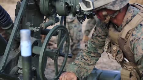Us-Marines-Dig-Lay-Pipe-And-Train-On-Artillery-Pieces-At-Camp-Fuji