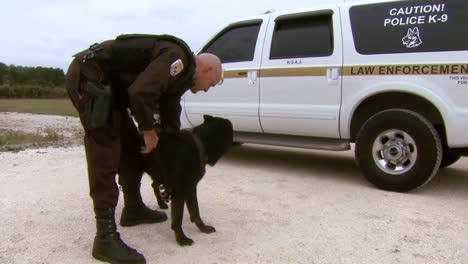 Ein-Wildtierschutzbeauftragter-Trainiert-Einen-K9-Hund