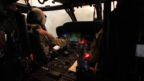 California-National-Guardsmen-Fly-Uh60-Black-Hawks-Over-A-Raging-Forest-Fire