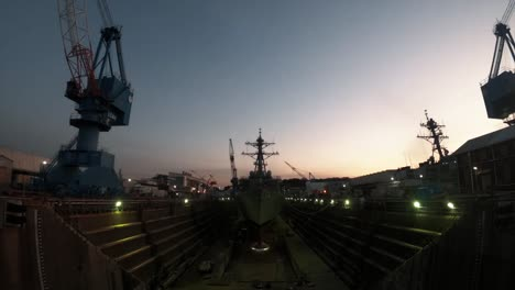 Time-Lapse-Photography-Shows-The-Uss-John-S-Mccain-Preparing-To-Leave-A-Dry-Dock