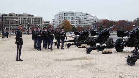 The-21-Gun-Salute-Is-Offered-In-Honor-Of-President-Bush-S-Passing
