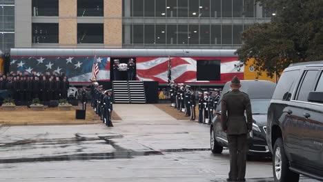 Hail-To-The-Chief-Is-Played-As-President-Bush-S-Casket-Is-Held-At-Texas-College-Station