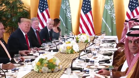 President-Trump-Answers-Questions-About-The-Koreas-While-At-A-Working-Breakfast-With-Crown-Prince-Of-Saudi-Arabia-2019