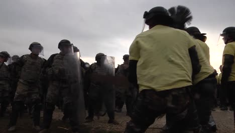 Soldiers-Of-The-Kfor-Multinational-Battle-Groupeast-Take-Part-In-Crowd-Riot-Control-(Crc)-Training-At-Camp-Marechal-De-Lattre-De-Tassigny-Kosovo-On-December-8-2018
