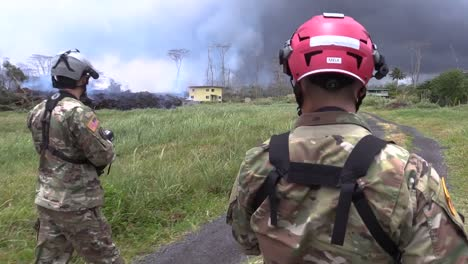 Hawaii-Army-National-Guard-Soldiers-Working-With-First-Responders-Evaluate-The-Air-Quality-And-Lava-Damaged-Locations-In-Parts-Of-Pahoa-Hawaii-2018