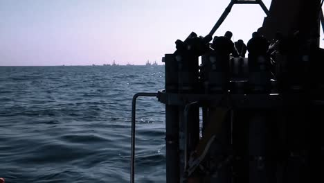 The-Crew-On-The-Noaa-Ship-Thomas-Jefferson-Conducting-Oceanographic-Observations-In-The-Gulf-Of-Mexico-As-Day-Turns-To-Night-As-Part-Of-The-Deepwater-Horizon-Bp/Gulf-Oil-Spill-Response