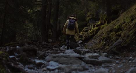 Einen-Felsigen-Bergpfad-Hinauf-Wandern