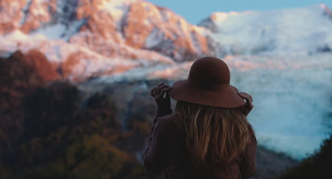 Woman-by-Mountain-at-Sunset-01