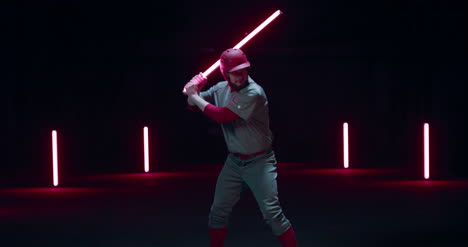 Baseball-Batter-Swinging-Light