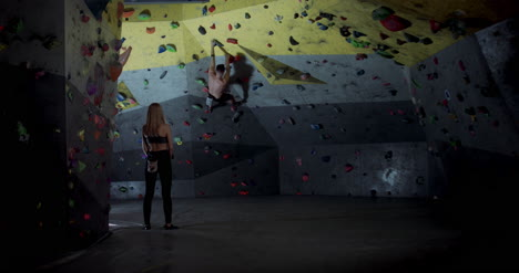 Man-and-Woman-in-Climbing-Gym