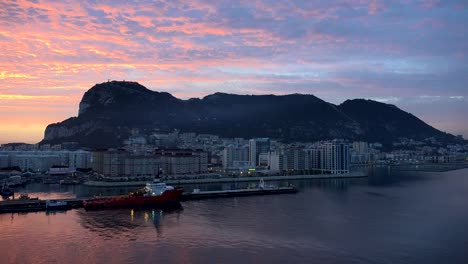 Gibraltar-Rock-And-City-At-Sunrise