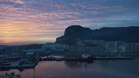 Gibraltar-Rock-And-Sunrise-Sky