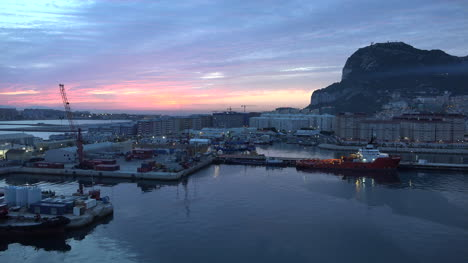 Gibraltar-Rock-Near-Sunrise