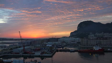 Gibraltar-Rock-Sun-Peeping-Up