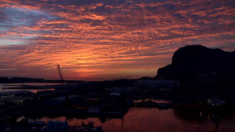 Gibraltar-Rock-With-Brightest-Sunrise-Clouds