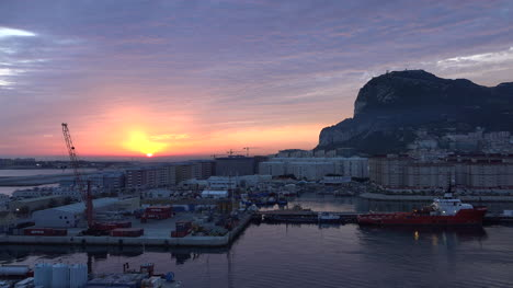 Gibraltar-Rising-Sun-At-Dawn